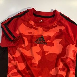 Adidas Climate Red Camouflaged Active T-shirt